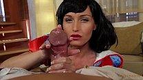 Snow White oily HANDJOB on big dick! POV with Kathia Nobili - PART 1
