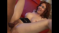 Sexy redhead with nice big tits banged by a big black cock