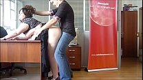 Horny BBW Milf fucked at the office by the boss
