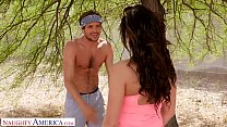Naughty America - Becky Bandini fucks a young stud at the park