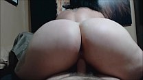 Rearview riding and creampie