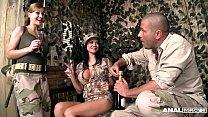Anal Army Inspectors Jasmine Jae & Abbie Cat Fucked Balls Deep