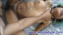 """Give it to me I can take it"" slim lesbian ebony takes dick"