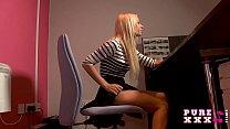 PURE XXX FILMS Banging the stunning busty secretary