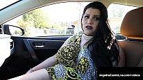 Luscious Love Handles Angelina Castro Sucks Dick For A Ride!