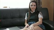 Petite horny school girl Natalie fucks teacher