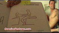 Real couple has fun with Kamasutra book