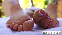 Liv Wild gets a heavenly foot massage