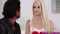 Ultra horny teen Elsa Jean has sex with her own stepdad