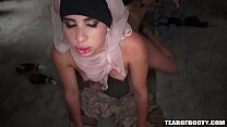 Arab whore delivered to American soldier