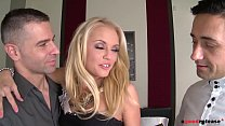 Blonde stunner Vanda Lust needs two big hard cocks up her ass and pussy