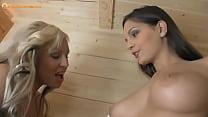 Lesbians in sauna