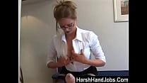 Harsh Handjobs from Holly Kiss