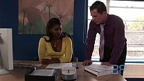 Sexy Jasmine Webb fucking with her boss at work