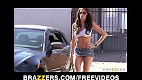 Kortney Kane grinds her wet pussy up and down a thick hard cock