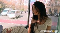 Amazing Alexa Tomas makes Money Stripping off her Clothes in Public