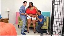 Huge Tit Ebony BBW Cotton Candi Gets Double Teamed