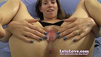 She spreads her pussy and asshole with lots of closeups