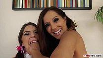Extra sloppy cock suckers Francesca Le and Olivia Lua