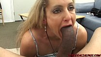 Naughty MILF Lori eaten out and smashed by BBC interracial