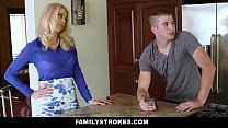 FamilyStrokes - Son Gives StepMom Oral Sex Under The Covers