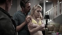 Teen double penetrated by her stepdad and her uncle