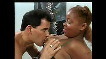 White guy fucks ebony after giving her a physical