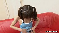 Petite and adorable Asian teen getting face spunked