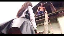 Slut girl's fetish fuck at the house roof
