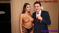 August Ames gives a blowjob lesson for Andrea Diprè