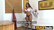 Fake Agent Natural chubby tanned cute amateur in porn casting
