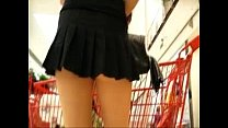 Candid Video At The Supermarket Hot Woman Filmed Under Skirt 01