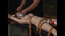 Hardcore bondage tied Natali demore forced to cum