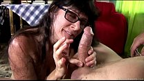 Cock hungry old spunker sucks and fucks for a mouthful of cum