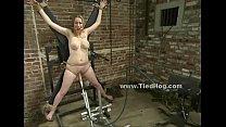 Blonde with big boobs sex slave bondage