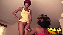 Fucking 2 African Amateur Hotties at Once POV