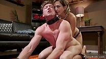 Dom girlfriend tries sex toys on bfs ass