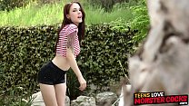Teen hottie Anna DeVille gets her ass stretched by huge rod