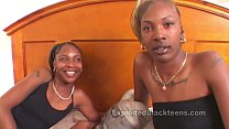 Horny Ebony Schoolgirls in Threesome Movie
