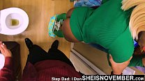 Get Off The Toilet Bitch And Give Step Dad This Pussy Now! Cute Petite Black Step Daughter Msnovember Big Booty Cornered By Abusive Step Dad on Sheisnovember 4k