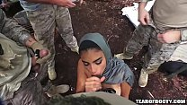 Arab booty babe banged by several guys