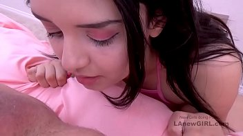 Petite step daughter fucked by her daddy while mom is not home