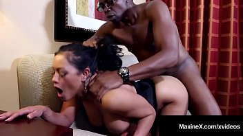 Cambodian Cougar MaxineX Dark Dicked By Big Black Cock!