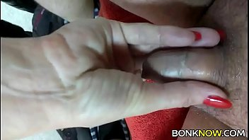 Babe plays with tiny cock
