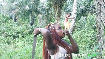 I met her in the bush fetching firewood while I was harvesting Palm fruits, I helped her and she rewarded me with a good fuck