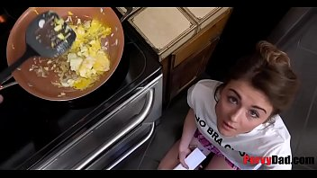 Hungry Daughter Eats Daddy's Balls for BREAKFAST