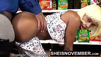Pornstar Sheisnovember Big Ass Doggystyle & Big Tits Biting Cock In Walmart HD