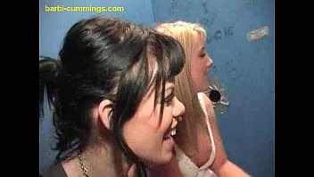 Two White Babes at a Glory Hole