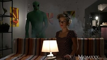 MOM Lonely housewife gets deep probe from alien on Halloween
