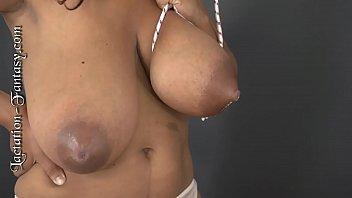 Niketa sucks on some huge tits!